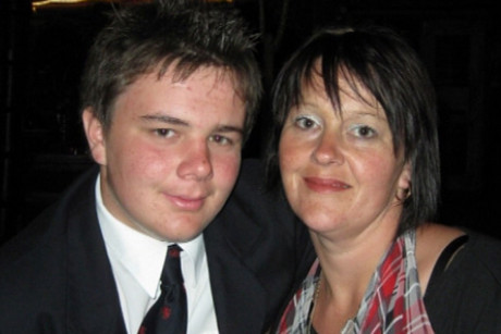Eliot Jessep and his mum Paula
