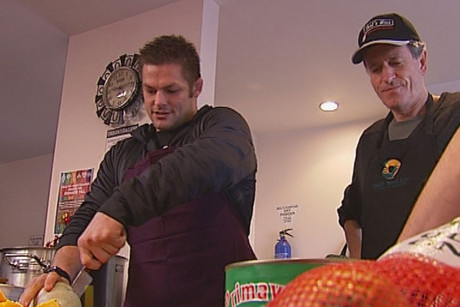 Richie McCaw showed off his talents in the kitchen