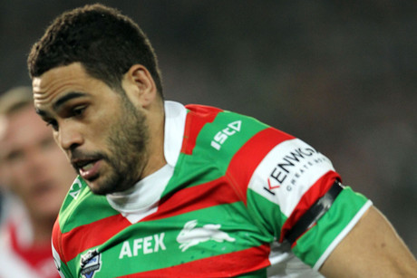 Greg Inglis is on report for a shoulder charge on Dragons' utility Dean Young (Photosport)