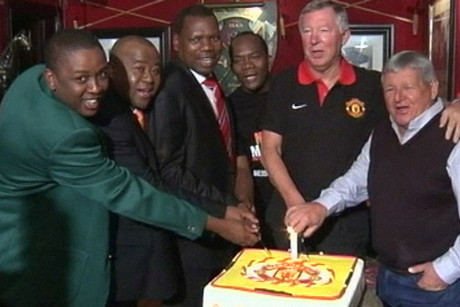Sir Alex Ferguson, second from right