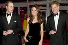 Britain's Prince William (L) and his wife Catherine, Duchess of Cambridge, and Prince Harry (R) (Reuters)