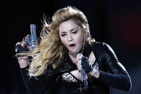 Madonna performing in Hyde Park, London on the weekend (Reuters)