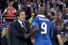Mario Balotelli storms past team officials