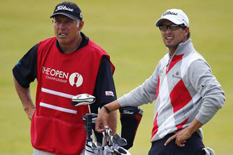 Steve Williams, left, and Adam Scott (Reuters)