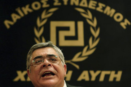 Leader of extreme-right Golden Dawn party Nikolaos Mihaloliakos (Reuters)