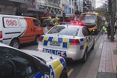 Mr Brown was hit by the bus as he stepped onto Willis Street