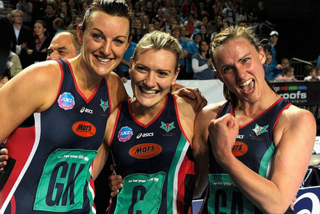 Melbourne Vixens skipper Bianca Chatfield, left (file pic)