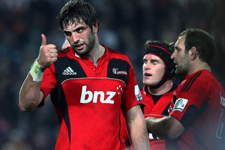 Will it be thumbs up for Sam Whitelock and the Crusaders crew at the end of 80 minutes? (Photosport file)