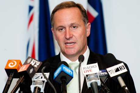 John Key says that nobody owns water in New Zealand  (file pic)