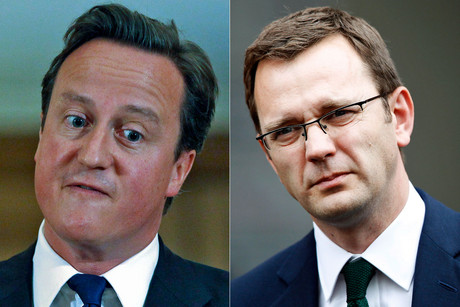 British Prime Minister David Cameron and his former aide Andy Coulson (Reuters)