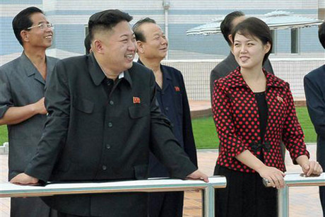 Kim Jong Un and his wife, Ri Sol Ju (Reuters)