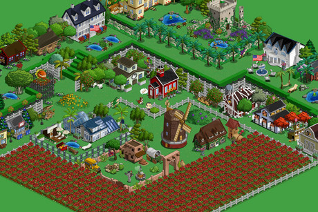 Zynga's popular game Farmville 