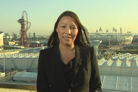 Europe correspondent Melissa Davies at Olympic Park this morning