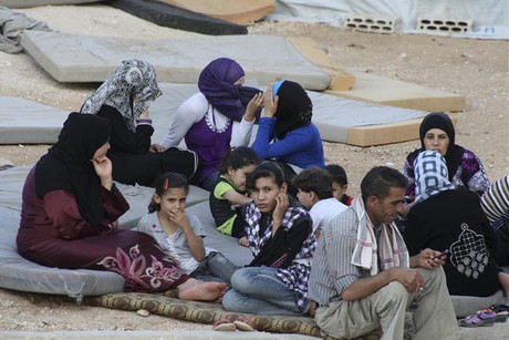 Syrian nationals at a refugee camp in Jordan  (Photo: Reuters)