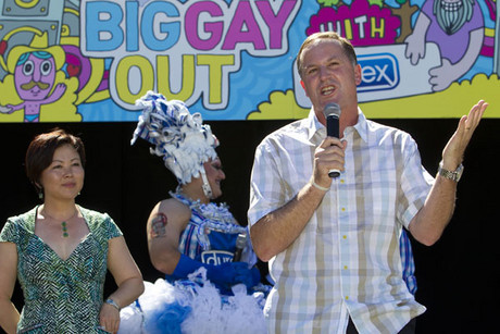 John Key at last year's Big Gay Out