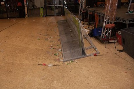 The collapsed floor at Canterbury University