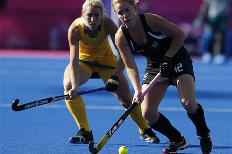 New Zealand's Ella Gunson controls the ball in the match against Australia (Reuters)
