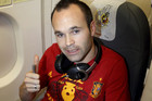 Spain's Andres Iniesta returrns home after the final win (NZN)