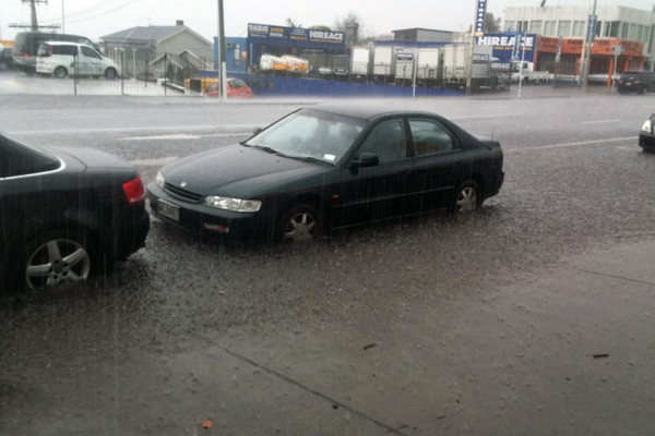 Flooding on Great North Road (Photo: Hayden Bentley)
