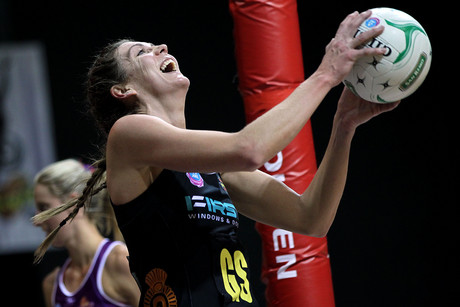 Magic's Irene Van Dyk in action against the Firebirds last night  (Photo: Photosport)