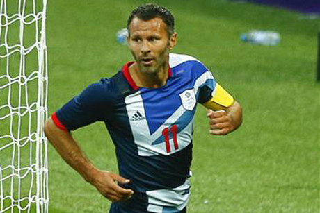 Ryan Giggs celebrates his Olympic goal (Reuters)