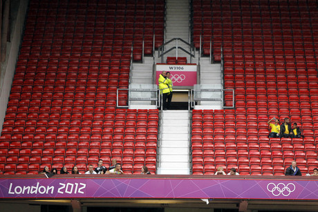 Empty seats during the Egypt v New Zealand Group C match at Old Trafford, Manchester (AAP)
