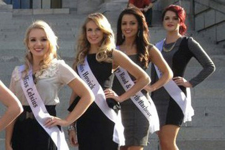 Avianca Bohm (second from left) has been stripped of her Miss New Zealand tiara