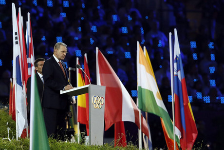 President of the International Olympic Committee (IOC), Jacques Rogge, during the Opening Ceremony of the London 2012 Olympic Games (AAP)