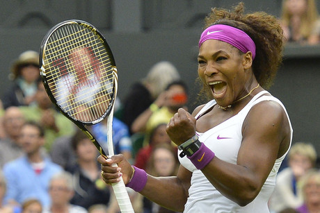 Serena Williams celebrates after beating Petra Kvitova (Reuters)