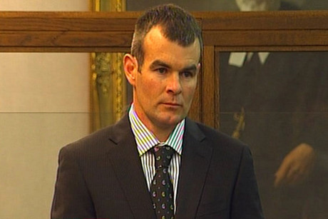 Ewen Macdonald during the murder trial at Wellington High Court