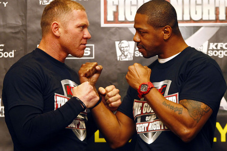 Shane Cameron, left, and Monte Barrett (Photosport file)