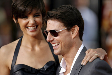 Katie Holmes and Tom Cruise (AAP)