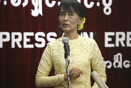 Myanmar's opposition leader Aung San Suu Kyi (Reuters)