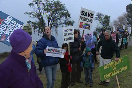 Protestors are worried about what proposed transport projects will do to their region