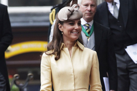 The Duchess of Cambridge wearing an Emilia Wickstead creation (Reuters)