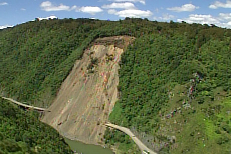 A previous slip at Manawatu Gorge closed it for months