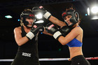 Jaime Ridge and Rosanna Arkle show off their boxing form (Photosport)