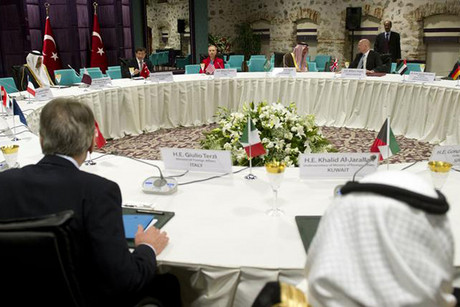 "Diplomats attend a ""Friends of Syria"" meeting in June  (Photo: Reuters)"