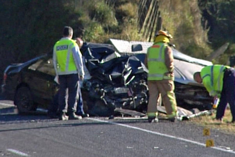 A man in his 30s who was driving the ute is in a serious condition in Tauranga Hospital