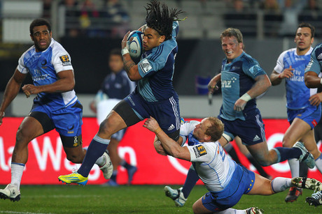 Ma'a Nonu on his way to his 100th first class try (Photosport)