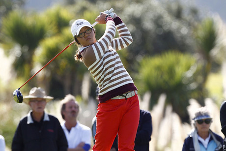 Lydia Ko tees off (Photosport)