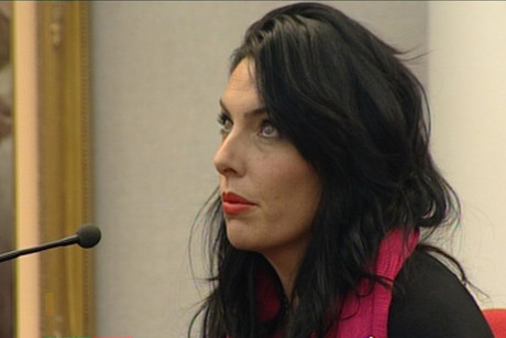 Scott Guy's widow Kylee Guy in court during Ewen Macdonald's trial