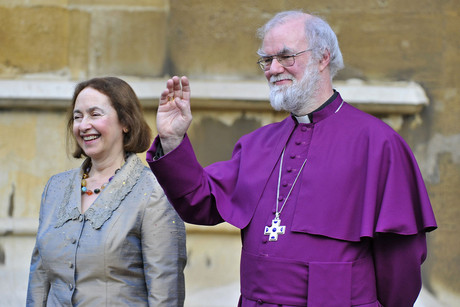 Britain's Archbishop of Canterbury Rowan Williams and his wife Jane (Reuters)