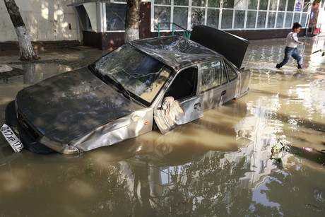 Damage from the Russia flooding (Reuters)