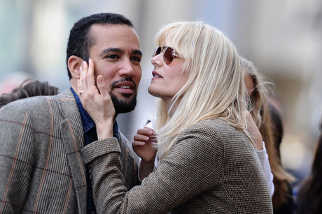 Ben Harper and Laura Dern (AAP)