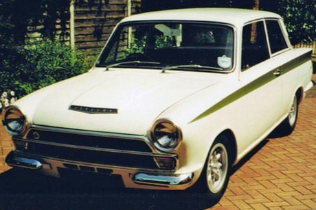 The Lotus Cortina Mark One is one of only 25 in New Zealand