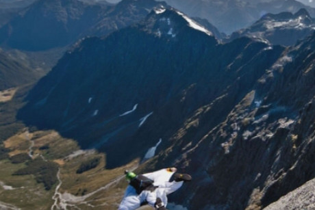 Alan McCandlish was base jumping with friends in Switzerland