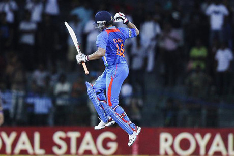 Suresh Raina celebrates (Reuters)