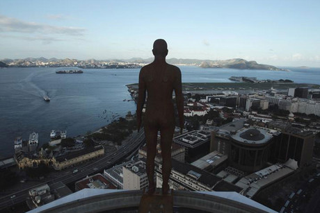 One of Antony Gormley's statues