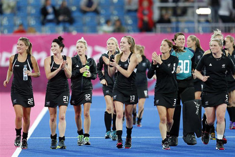 The Black Sticks celebrate their win against the US earlier in the Olympics  (Reuters)